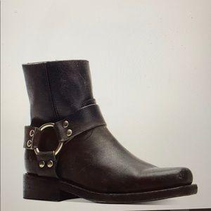 Frye Black Ryder Harness Boots